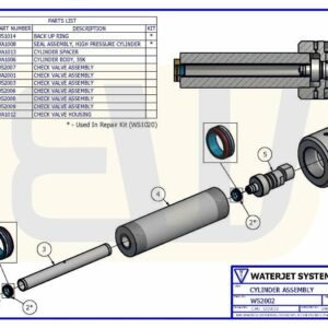 CYLINDER ASSEMBLY WS100 WSI