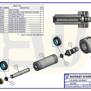 CYLINDER ASSEMBLY 30 HP E30 WSI